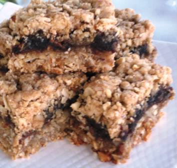 Oatmeal and Date bars
