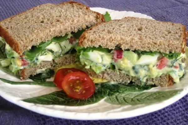Avocado Egg Salad - light recipe