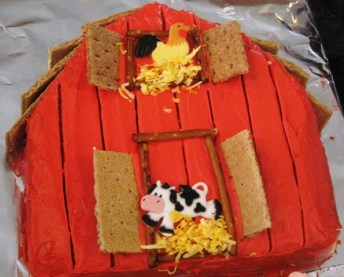 Farmer McAidan's Barn Birthdy Cake