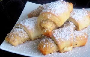Nut Horn Cookies - serving