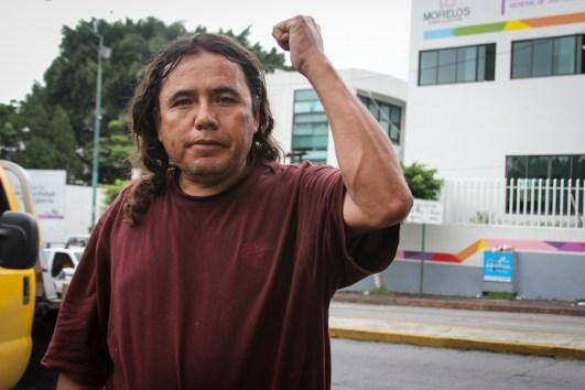 Jaime Domínguez tras ser puesto en libertad. Fotografía: Heriberto Paredes