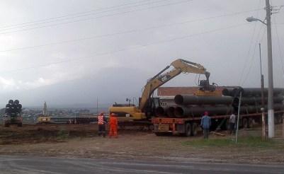 A pesar del rechazo de las comunidades, los trabajos no se detienen. Foto: cortesía del Frente de Pueblos, San Juan Amecac, Atlixco, Puebla.
