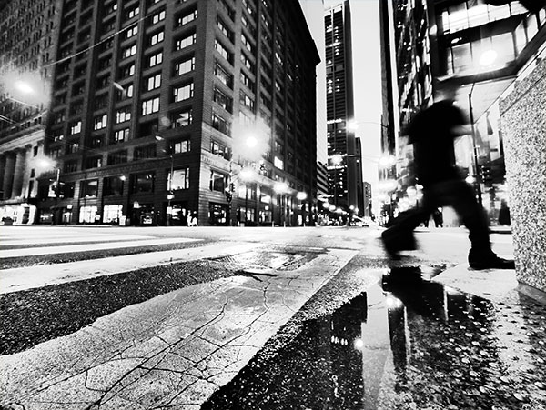 High contrast black and white image
