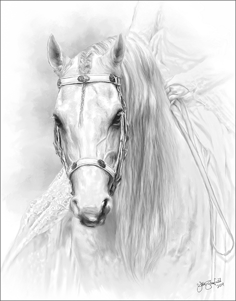 equine art image by lois stanfield