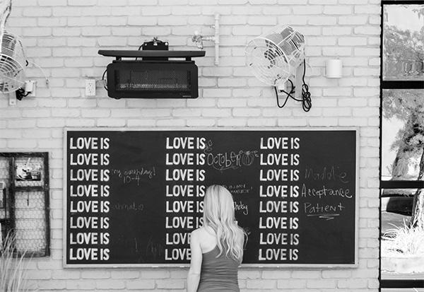 love is blackboard infrared