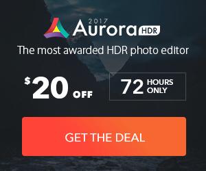 aurora HDR software discount banner