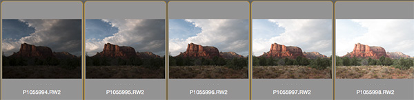 images of different exposures at courthouse butte