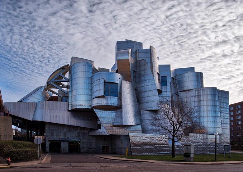 weisman museum in minnesota color photo
