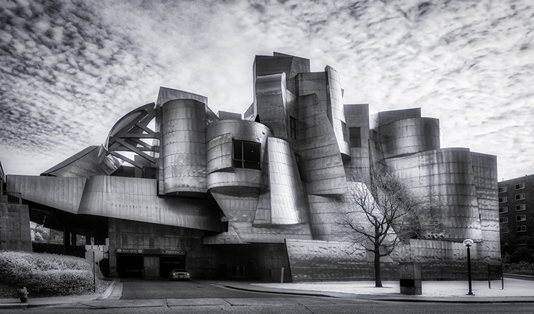 weisman museum infrared image