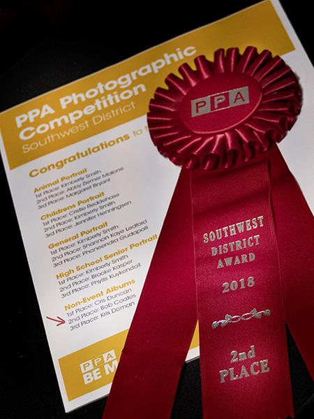 PPA 2nd place ribbon southwest district