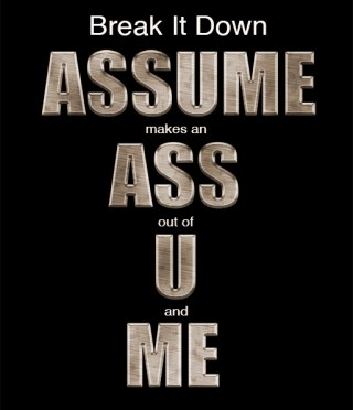 assume graphic by bob coates photography