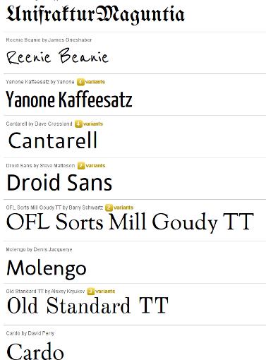 Google – Neue Schriftarten für deine Webseite