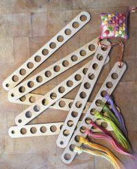 10 hole wooden thread holder - Sue Hawkins Needleworks