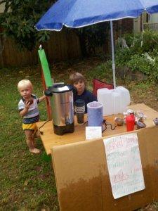 Milo & Eliot's lemonade stand