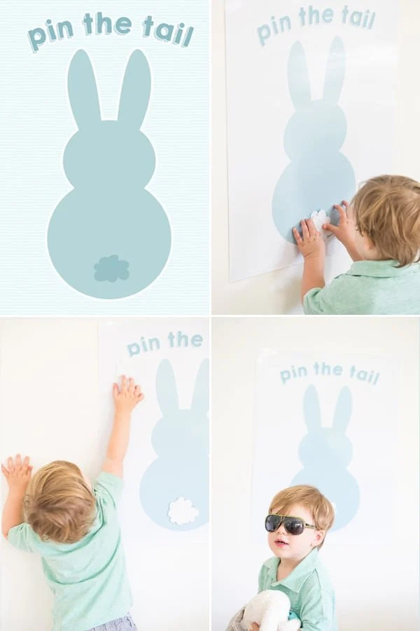 pin the tail on the easter bunny Sugar and Charm