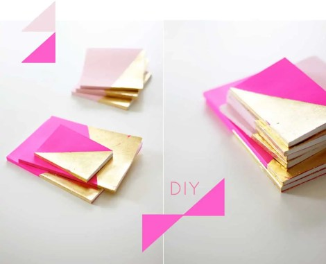 DIY gold dipped to do list notebook