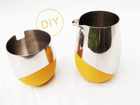 DIY color dipped coffee set