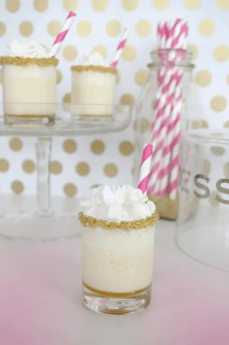 salted caramel ice cream cake shots recipe