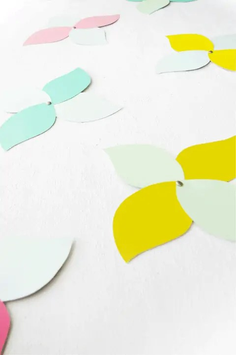 paint swatch paper flowers