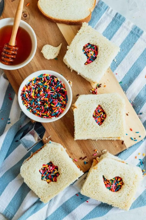 sandwich version of fairy bread recipe