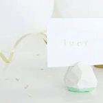 DIY // Geometric Place Card Holders