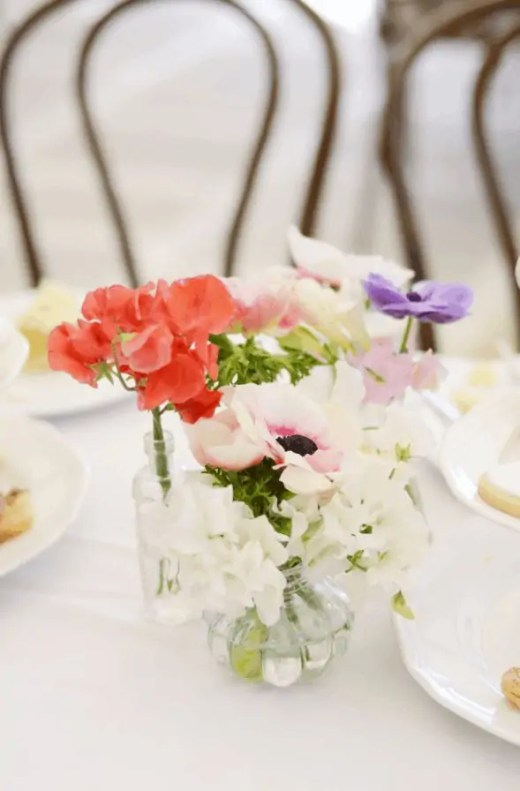 high tea centerpieces