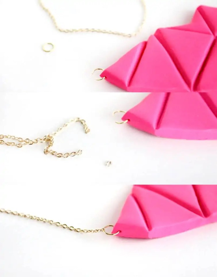 diy geometric bib necklace