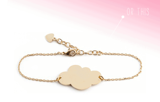 mini cloud golden bracelet giveaway
