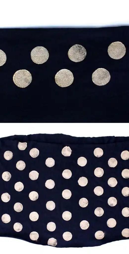 DIY No-Sew Polka Dot Infinity Scarf - Sugar & Cloth - DIY - Houston Blogger