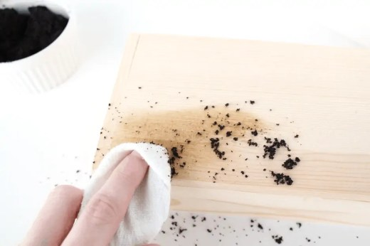 DIY coffee stained hostess gift box