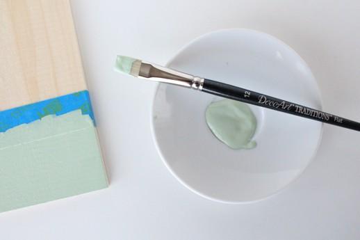 DIY natural wood chalkboard