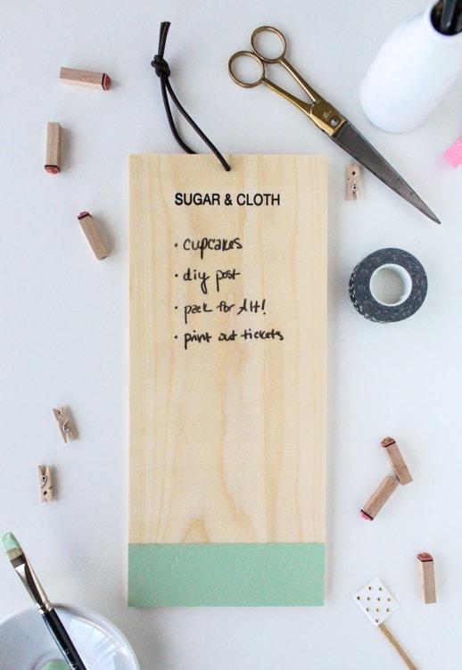 DIY Chalkboard anything to-do list - Sugar & Cloth - Event - DIY - Houston Blogger