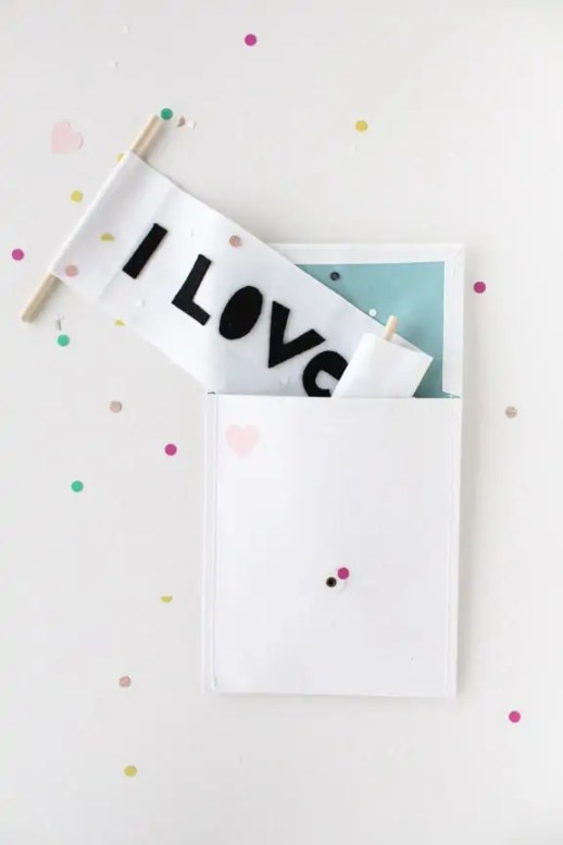 love letter scroll DIY