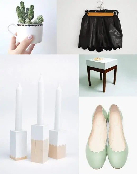 buy or DIY, five scalloped items you wish you had