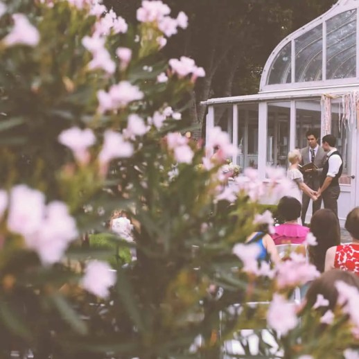 stunning garden wedding, ian and cara