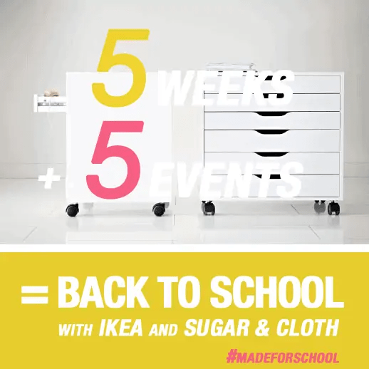 back to school DIY events with sugar and cloth