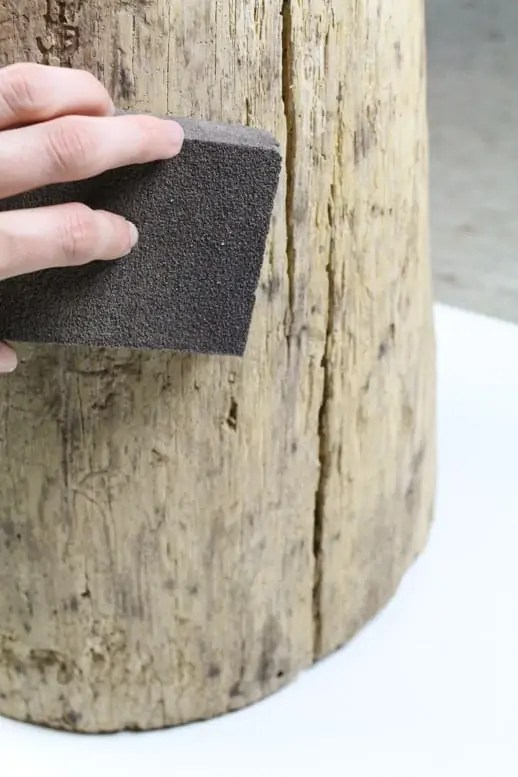 #DIY stump side table