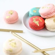 DIY Edible Gold Macarons - Sugar and Cloth