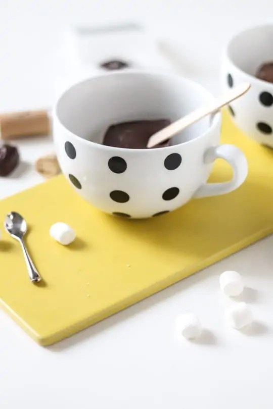 how to serve hot chocolate on a stick