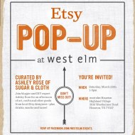 Hosting the Etsy Pop-Up at West Elm Houston! - Sugar and Cloth
