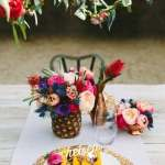 Our floral tablescape in Palm Springs!