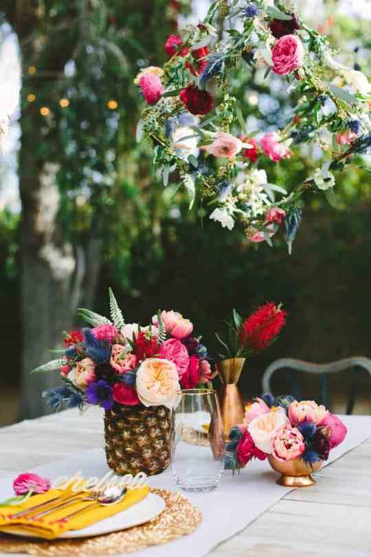 DIY floral geometric pendant