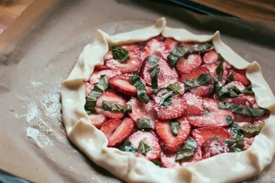 recipe for strawberry basil galette