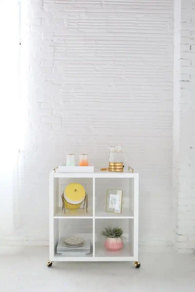 DIY Ikea hack bar cart | sugarandcloth.com