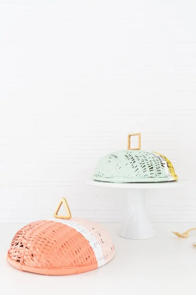 DIY colorblock food domes | sugarandcloth.com