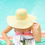 DIY Polka Dot Floppy Hat - Sugar and Cloth