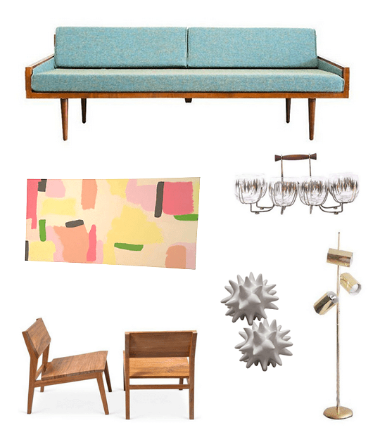mid-century glam favorites from @chairishco | sugarandcloth.com