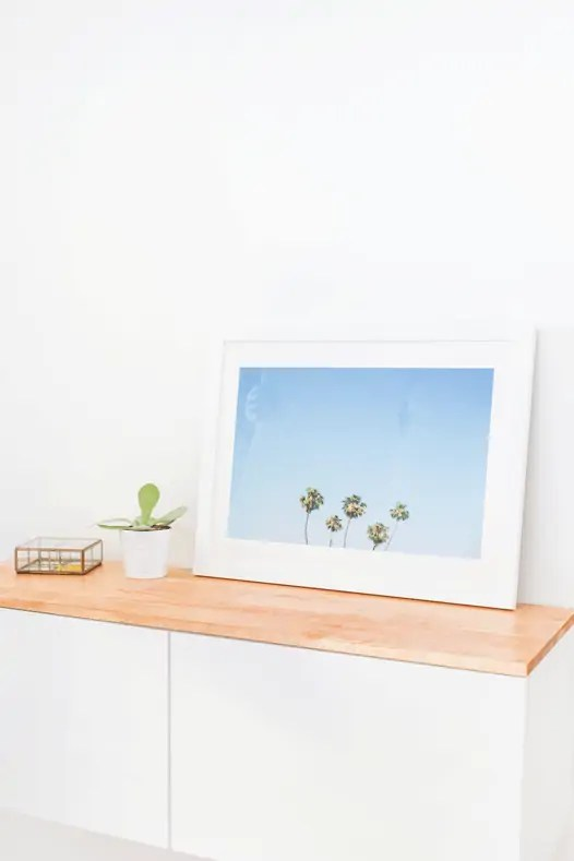 DIY Ikea hack floating credenza | sugarandcloth.com