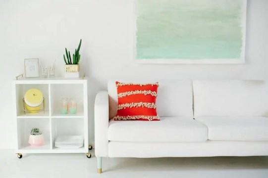 DIY watercolor wall art   sugarandcloth.com