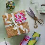 DIY gift wrap ornaments for Anthropologie | sugarandcloth.com